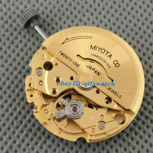 Golden Plated Japan 21 Jewels Miyota 8215 Date Automatic Movement Mechanical