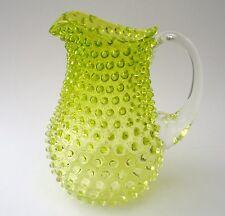 Wasserkrug Noppenglas, Böhmen, schöne Handarbeit, 1,5L