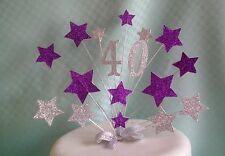CAD PURPLE  BIRTHDAY CAKE TOP/TOPPER /ANY AGE 18th/21st/ 30th /40th/ 50th/ 60th