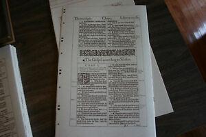 Unbound 1611 KJV Bible Facsimile of Psalms & John. Standard Paper edition.