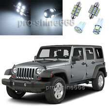 Xenon White LED Interior 9X Lights Plate Package for Jeep Wrangler 2007 2014