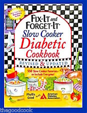 Fix-It and Forget-It  Diabetic 550 Healthy Slow Cooker Recipes for Everyone  New