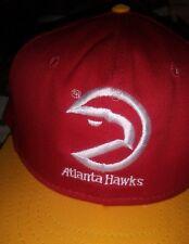 Nba Atlanta Hawks Basketball Old Logo Vtg Usa Made Snapback Hat