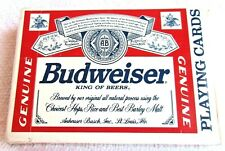 Budweiser King Of Beers Vintage Playing Cards Bicycle Plastic Coated Complete