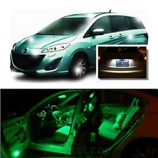 For Mazda 5 2006-2010 Green LED Interior Kit + Xenon White License Light LED