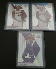 LeBron James Lakers 2020 Mosaic Lot - Silver Wave Prizm and 2 MVP Base Cards