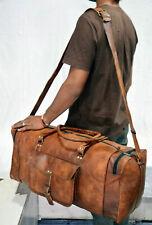 Sac de sport de 60 cm Sac de voyage en cuir vintage Weekender style rétro
