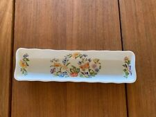 TIDBIT SERVING DISH AYNSLEY COTTAGE GARDEN MINT OLIVE CHEESE ENGLAND BUTTERFLY