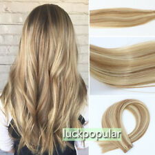 Tape in Skin Weft Hair Extensions 100% Real Remy Human Hair For Full Head 40pcs