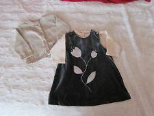 Jolie robe Baby baby velours,gilet la compagnie des petits,tee shirt TAO,12 mois