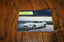 2011 Maserati Granturismo S Automatic owners manual