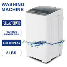 Full-Automatic 8LBS Portable Compact Washing Machine Spin Dryer Laundry 1.6 Cuft