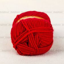 Lots of 100g Skein Soft Skein Sheep Wool Scarf Knitting Yarn ,Worsted -8 Colours