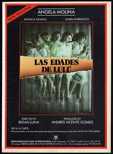 LAS EDADES DE LULU / THE AGES OF LULU__Orig. 1990 Trade AD_poster__ANGELA MOLINA