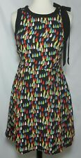 Tulle Brand Dress Size Small Tear Drop Red Blue Green Sleeveless Aline Bow Pleat