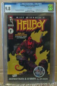 HELLBOY #1 CGC 9.8 1st HELLBOY! ORIGIN & 1st MONKEYMAN! MIKE MIGNOLA'S Story!