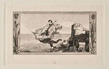 Max Klinger-Amor et Psyché, VIGNETTE DE: Opus V, feuille 24-Gravure - 1880