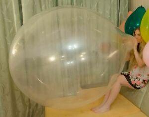 KATYA'S OLYMPIС 7 CLEAR BALLOONS huge big giant latex looner large transparent
