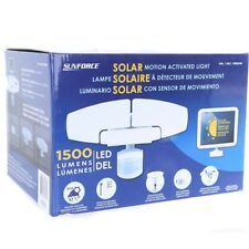 Sunforce Triple LED Solar Motion Activated Solar Sensor Bright Light 1500 Lumens
