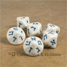 NEW 6 Hebrew Numbers D10 Dice Set D&D RPG Game 10 Sided Language Large 20mm D10s