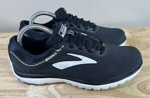Brooks Pure Flow 7 Running Shoes Black White Men's Size 9.5 B