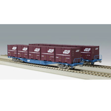 Kato 3-512 KOKI 104 19D Freight Cars + Containers 2 Cars Set - HO
