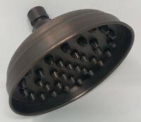 "Signature Hardware 5-1/2"" Inglis Rainfall Nozzle Oil Rubbed Bronze Shower Head"