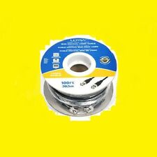 Ultra 100FT RG58/U MALE-MALE BNC Coaxial Video Cable 50ohm DVR CCTV Surveillance