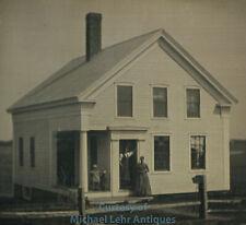 Very Clear 1/4 Plate Daguerreotype Scene of a House in Woodstown, NJ