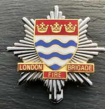 "LONDON FIRE BRIGADE CAP BADGE. Height 1-3/4"" (43mm)"