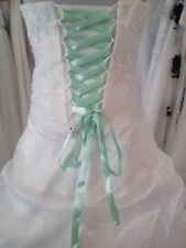Lacet ruban VERT CLAIR  / 3 mètres - satiné pour robe de mariée/soirée