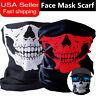 2 Pack Ghost Biker Skull Hood Face Mask Motorcycle Ski Balaclava CS Sport Helmet