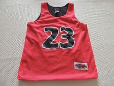 Red Mesh Lined  Basketball Jersey #23  Boys Small 8/10