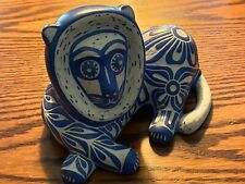 Handmade Pablo Zabal South American Pottery - Signed & Authentic - Lion - Chile