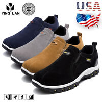 Men's Slip On Sports Outdoor Sneakers Running Walking Hiking Shoes Loafers Sizes