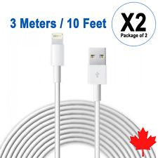 2x 10FT 3M USB Data Sync Charger Cable for iPhone X Xs Max Xr 8 8Plus 7 6s 6 SE
