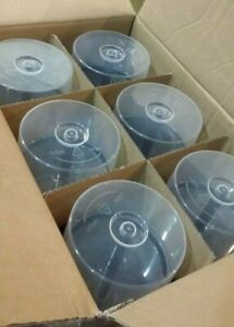 12 EMPTY CD-DVD SPINDLE CAKE BOX STORAGE CONTAINER HOLD 50 DISCS EACH