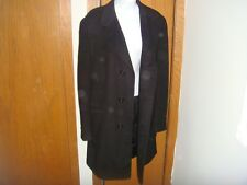vtg MENS small S black 100% Cashmere coat ERIE CLOTHING lined womens med.