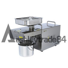 1PCS Automatic Small Oil Press Machine Stainless Steel Cold Hot press