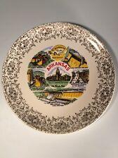 Arkansas, Vintage Commemorative Plate, Razorbacks, Lake Norfolk, Hot Springs,