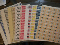 U-PICK -ONE SHEET ,US 1960's 5 CENT MINT SHEET NH OG
