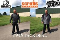 Scruffs Hardcore Rhino Work Trousers Jacket Coat Hoodie TWINPACK DEAL
