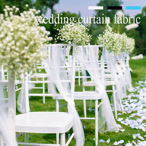 Wedding Curtain Sheer Backdrop Stage Drape Background Party Home Room Decor