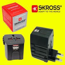 Skross MUV World Travel Adaptor Converter Plug & USB Charger NEW - Black