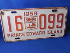 PRINCE EDWARD ISLAND LICENSE PLATE 1950 COAT OF ARMS 16 099 VINTAGE CANADA SIGN