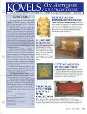Kovels on Antiques and Collectibles Newsletter June 2000 Phoenix Glass Music Box