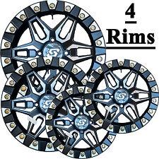 FOUR Aluminum ATV RIMs WHEELs 14x7 4/110 5+2 SEDONA SPLIT 6 True Beadlock