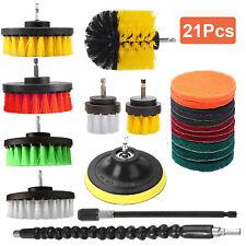 21pcs Drill Brush Attachment Set Power Scrubber Cleaning Car Polishing Pad Kit