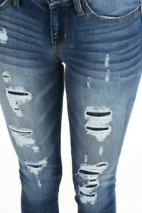 Judy Blue Jeans size 5/27 distressed destroyed  patches stretch skinny