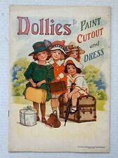 VINTAGE - Dollies To Paint Cutout And Dress Paper Doll Book - Saalfield 1918